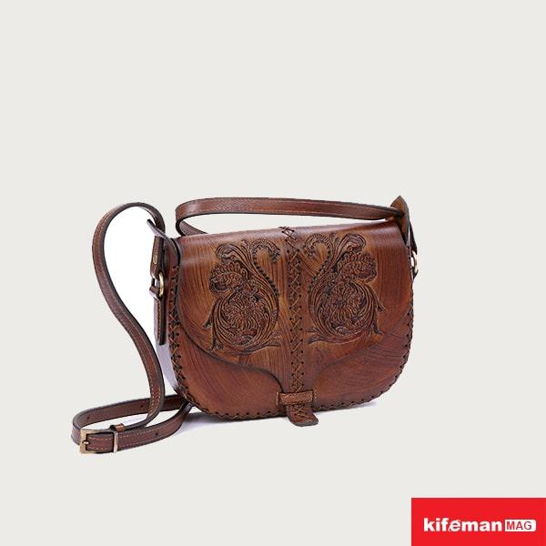 کیف دوشی چرم بوهمیایی